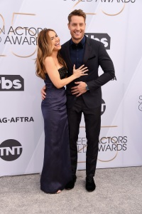 Justin Hartley and his wife