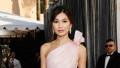 Gemma Chan pink dress black belt 2019 SAG awards