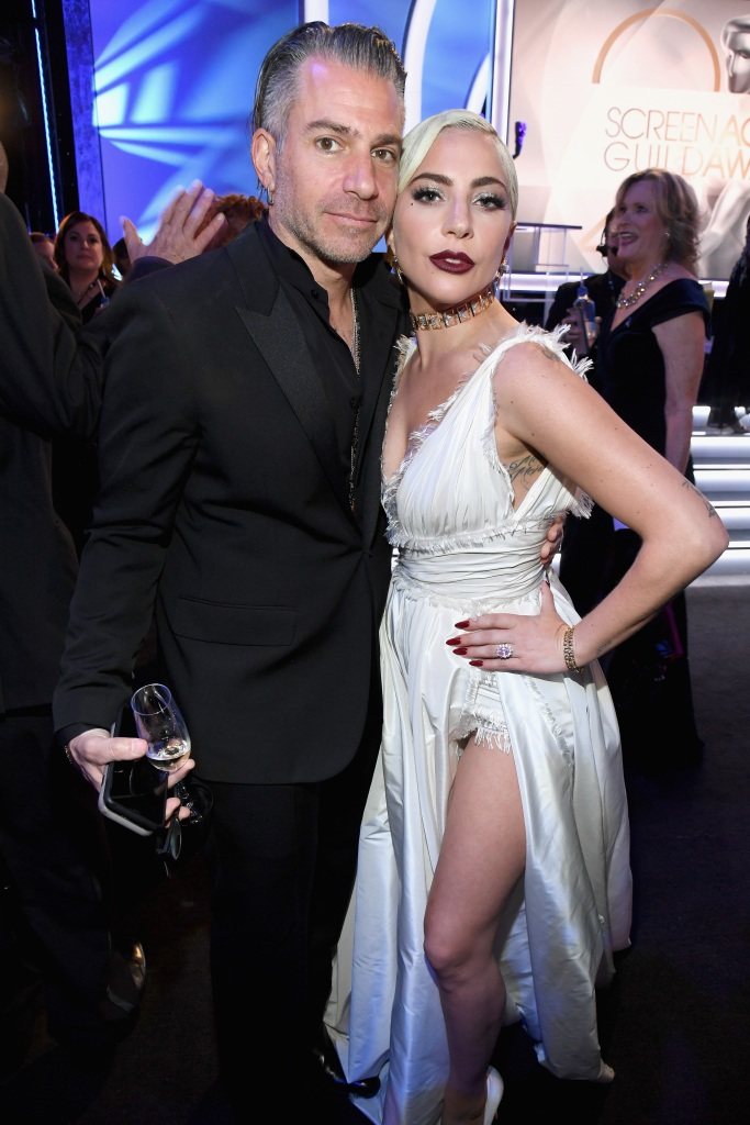Lady Gaga with her fiance