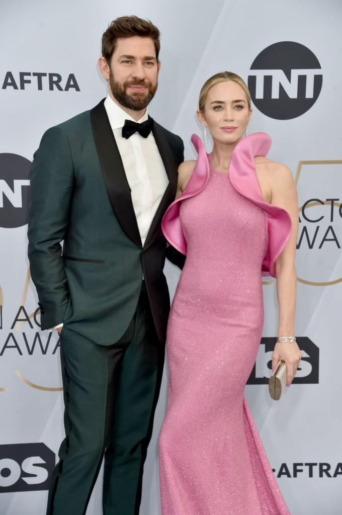 25th Annual Screen ActorsGuild Awards Emily Blunt John Krasinski