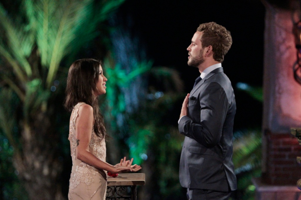 Nick Viall with Kaitlyn Bristowe at the Bachelor mansion
