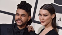 Bella Hadid The Weeknd kissing on Instagram
