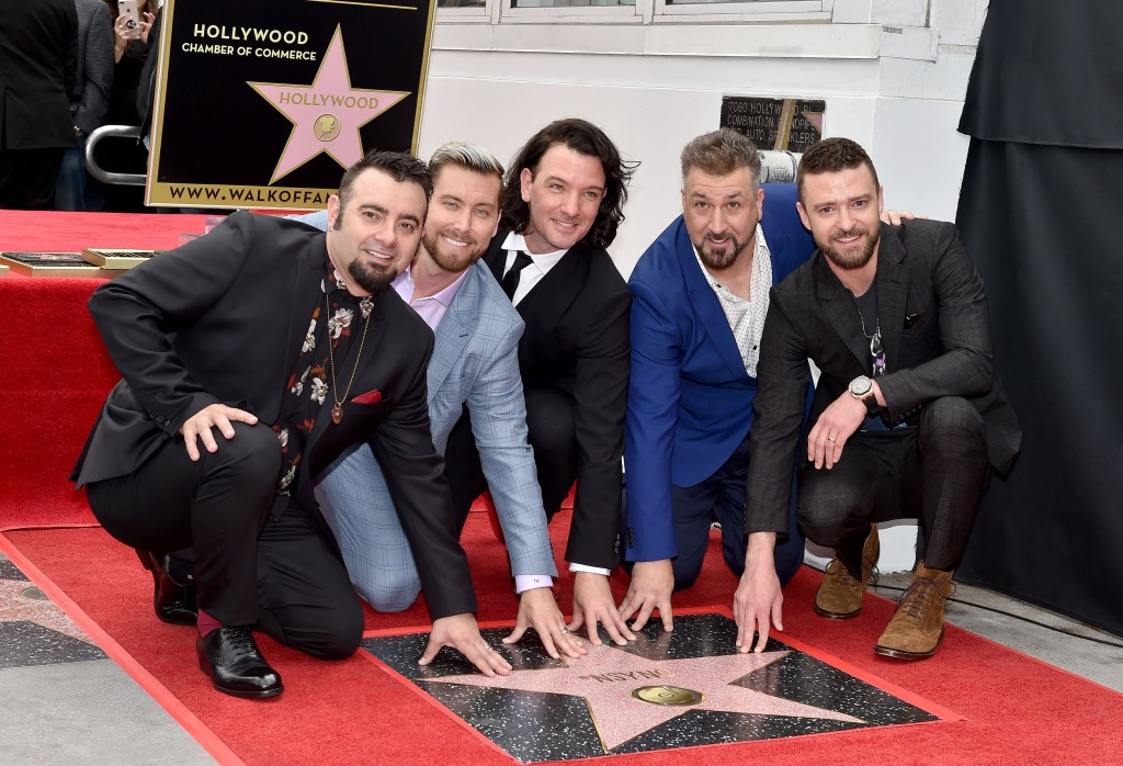NSYNC at the Hollywood Walk of fame