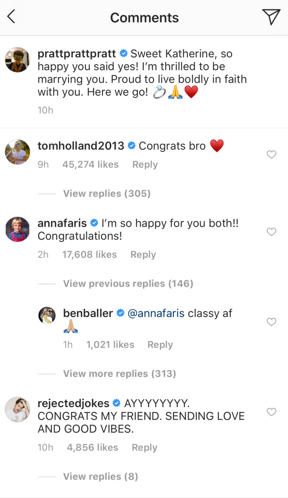 Anna Faris comments on Chris Pratt and Katherine Schwarzenegger engagement announcement