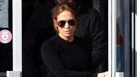 Jennifer Lopez curves tight yoga pants gym Miami