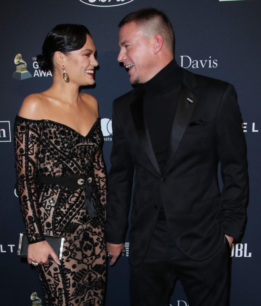 Jessie J and Channing Tatum at Clive Davis' 2020 Pre-Grammy Gala
