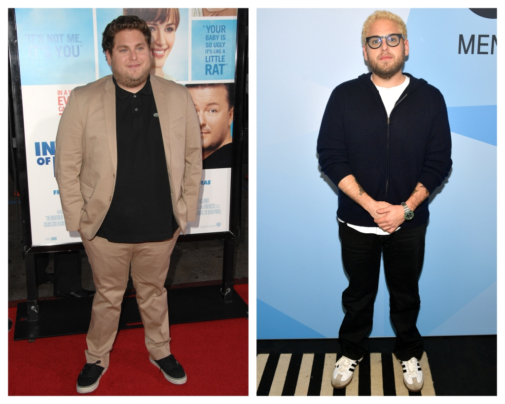Split image of Jonah Hill in 2009 and Jonah Hill in 2018.