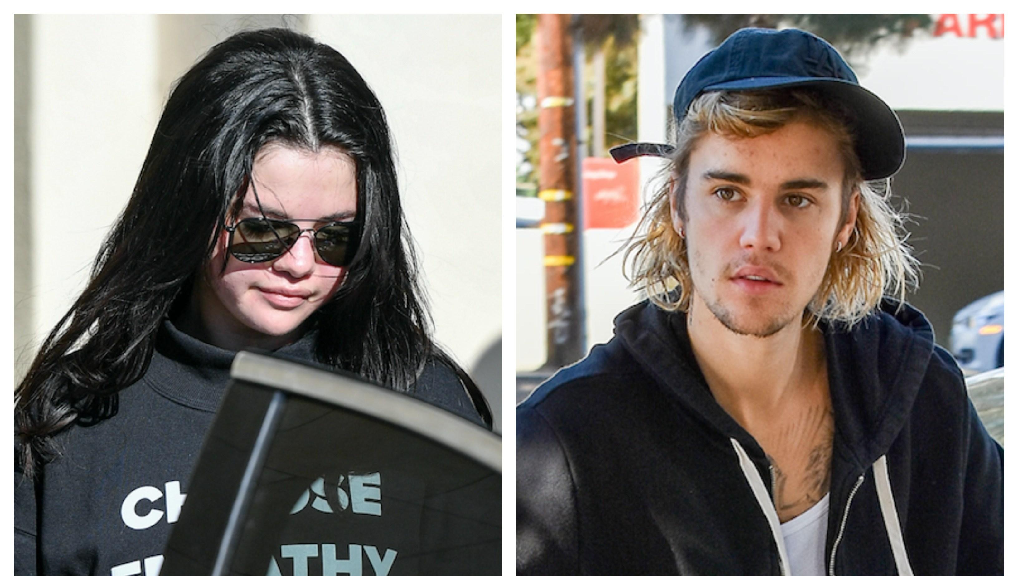 Selena Gomez, Justin Bieber, Split Image