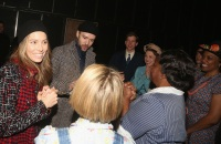 Justin Timberlake backstage at To Kill in a Mockingbird in NYC with wife Jessica Biel