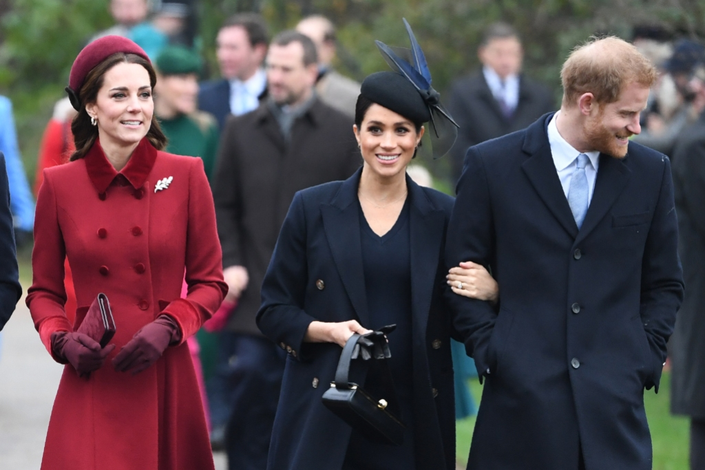 Kate Middleton, Meghan Markle, and Prince Harry