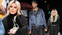 Khloe Kardashian And Tristan Thompson Have A Romantic Dinner Before She Sits Courtside At LA Game