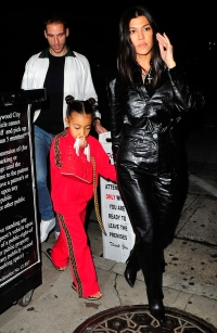 Kourtney Kardashian, North West, And Kris Jenner Have Dinner In West Hollywood