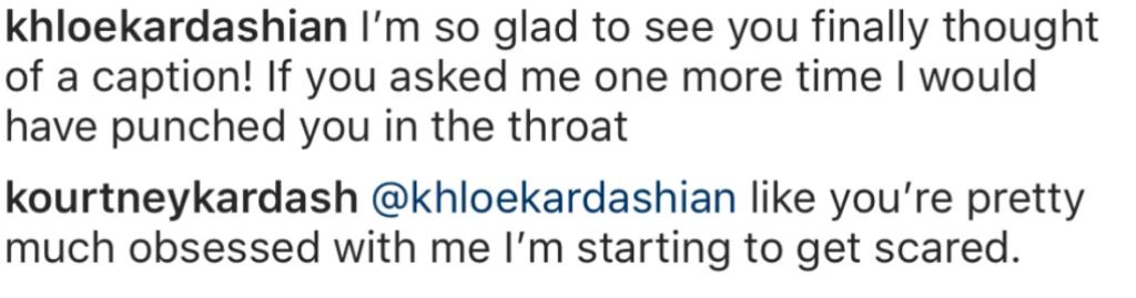 Kourtney Kardashian Instagram comment section