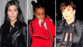 Kourtney Kardashian, North West, And Kris Jenner Have Dinner In West Hollywood