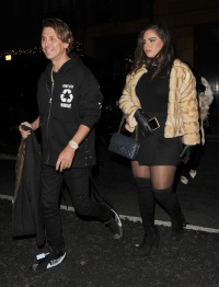 EXCLUSIVE: Jonathan Cheban, the self proclaimed 'Food God' is seen leaving C restaurant in Mayfair, with a female companion.
