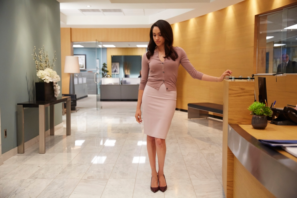 Meghan Markle pictured as Rachel Zane during Season 5, episode 6 of 'Suits.'