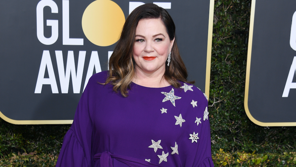 Melissa McCarthy, Purple Dress, Golden Globes 2019