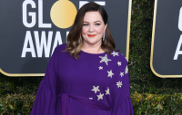 Melissa McCarthy, Purple Dress, Golden Globes 2019