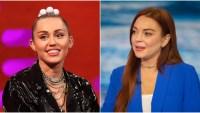 Miley Cyrus and Lindsay Lohan