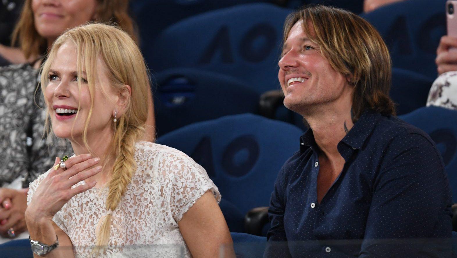 Nicole Kidman and Keith Urban watching the Australian Open