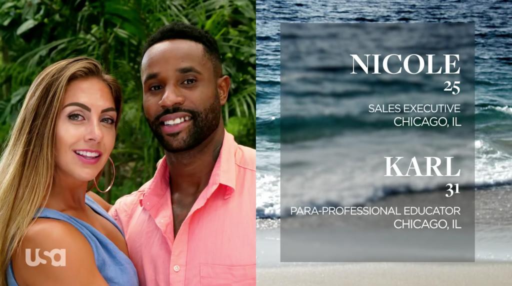 Nicole Tutewohl and Karl Collins on Temptation Island
