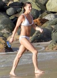 Pippa Middleton Post Baby Abs White Bikini St Barts