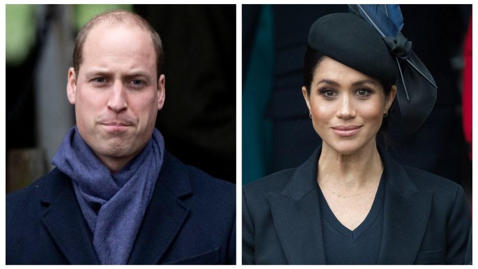 Prince William, Meghan Markle, Split Image