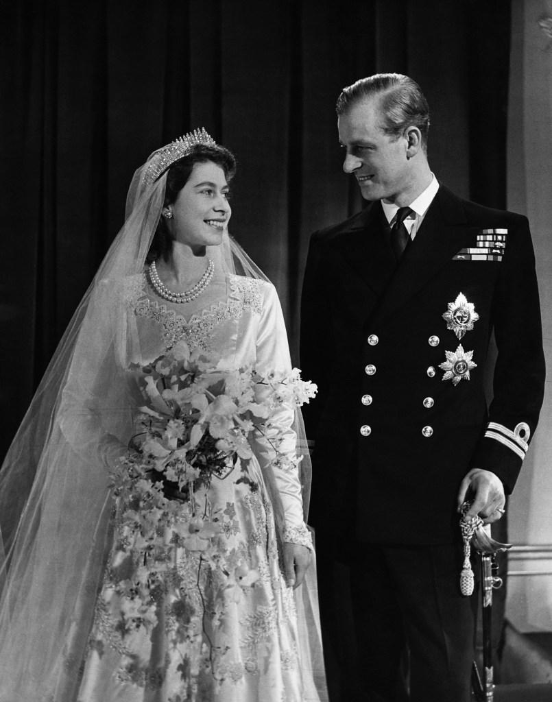 Queen Elizabeth and Prince Philip's weddingj