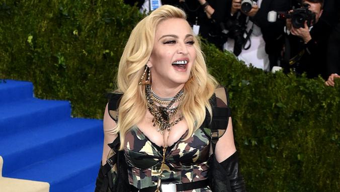 Madonna, Met Gala 2017, Laughing