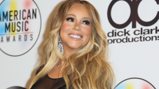 Mariah Carey, Black Gown, Smiling