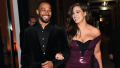 Ashley Graham walking with husband Justin Ervin in NYC