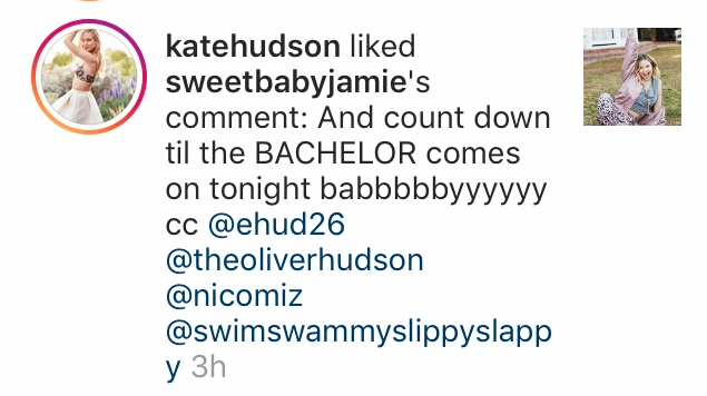 Kate Hudson Instagram comments