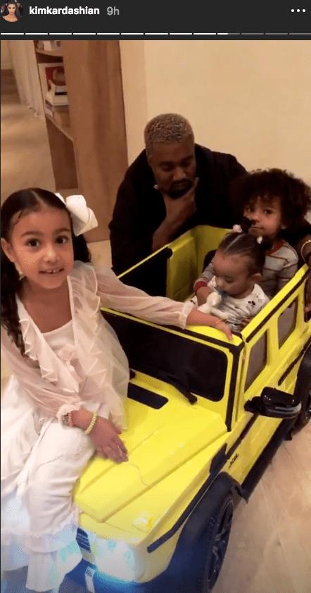 Kim Kardashian instagram story chicago birthday gift g wagon