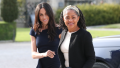Meghan Markle and Doria Ragland walking side by side