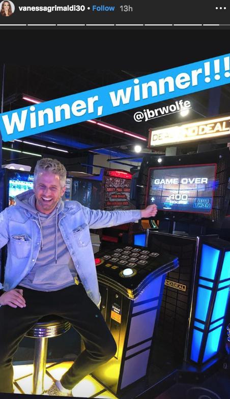 The Bachelor Vanessa Grimaldi instagram story date night with Josh Wolfe