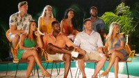 The Couples On Temptation Island Sit In Chairs To Meet The Singles