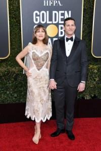 Golden Globes 2019 andy samberg joanna newsom