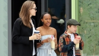 Zahara and Knox All Grown Up! Angelina Jolie And Her Stylish Kids Spend Quality Time At The Mall