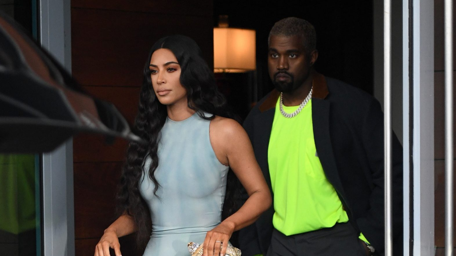 cf7c8892ca05 Kim Kardashian Looks Hot In A Skin Tight Dress As She Shops With Hubby Kanye  West In Miami