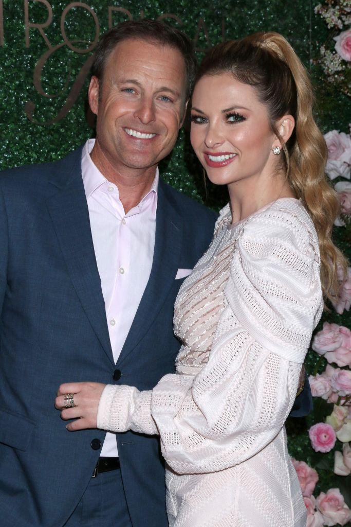 Bachelor Host Chris Harrison Hugs Girlfriend Lauren Zima