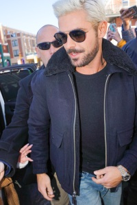 Zac Efron Debuts New Platinum Blonde Hair At Sundance