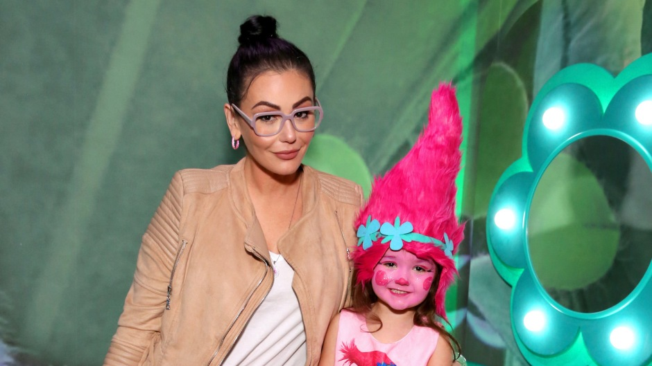 JWoww with her daughter at the Trolls premiere