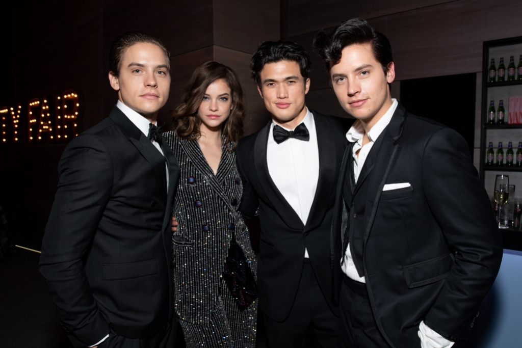 Dylan-Sprouse-Barbara-Palvin-Charles-Melton-and-Cole-Sprouse