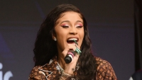 Cardi B posts video of Kulture laughing on instagram and you can see her face