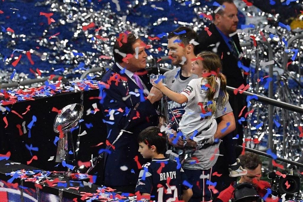 Tom Brady and kids after Super Bowl LIII