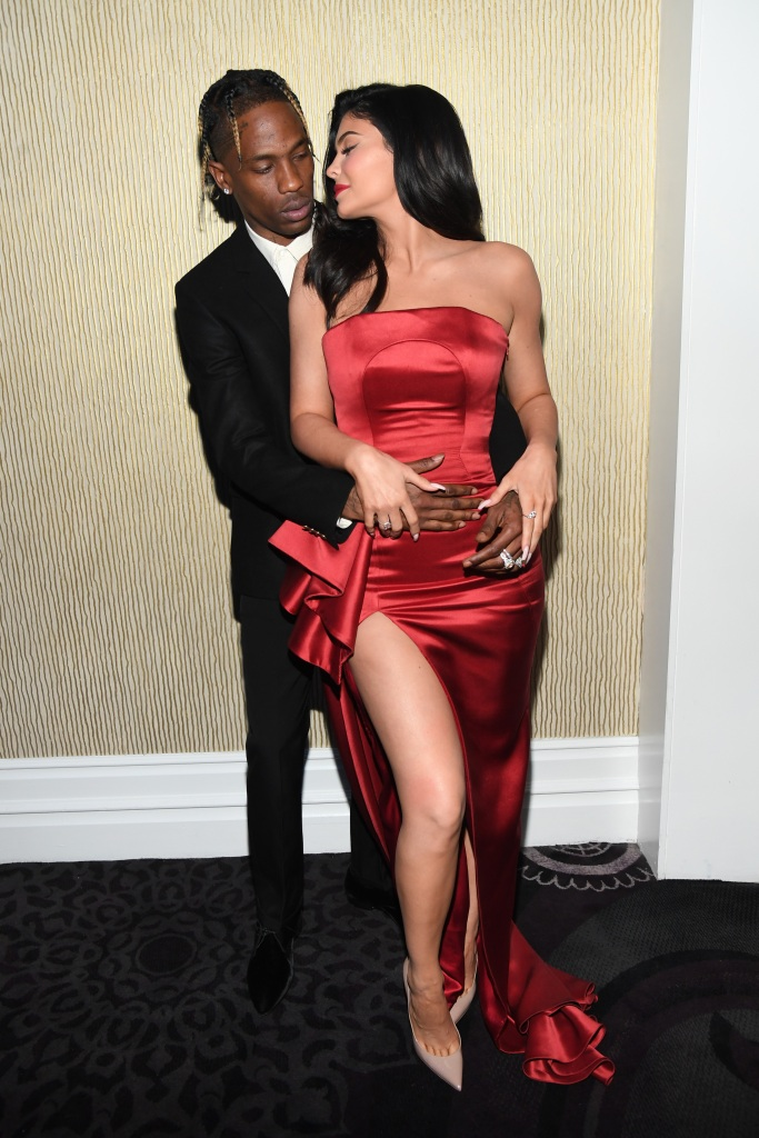 Travis Scott Kylie Jenner grammy pre party