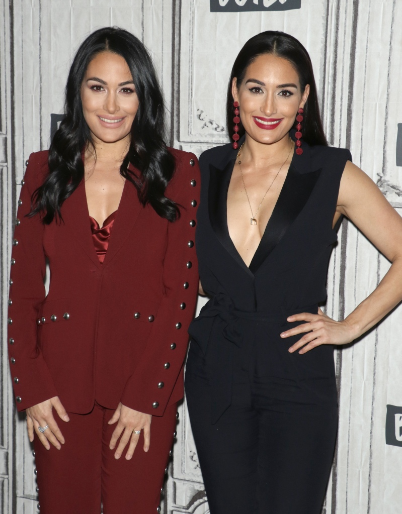 Nikki and Brie Bella on busy tonight