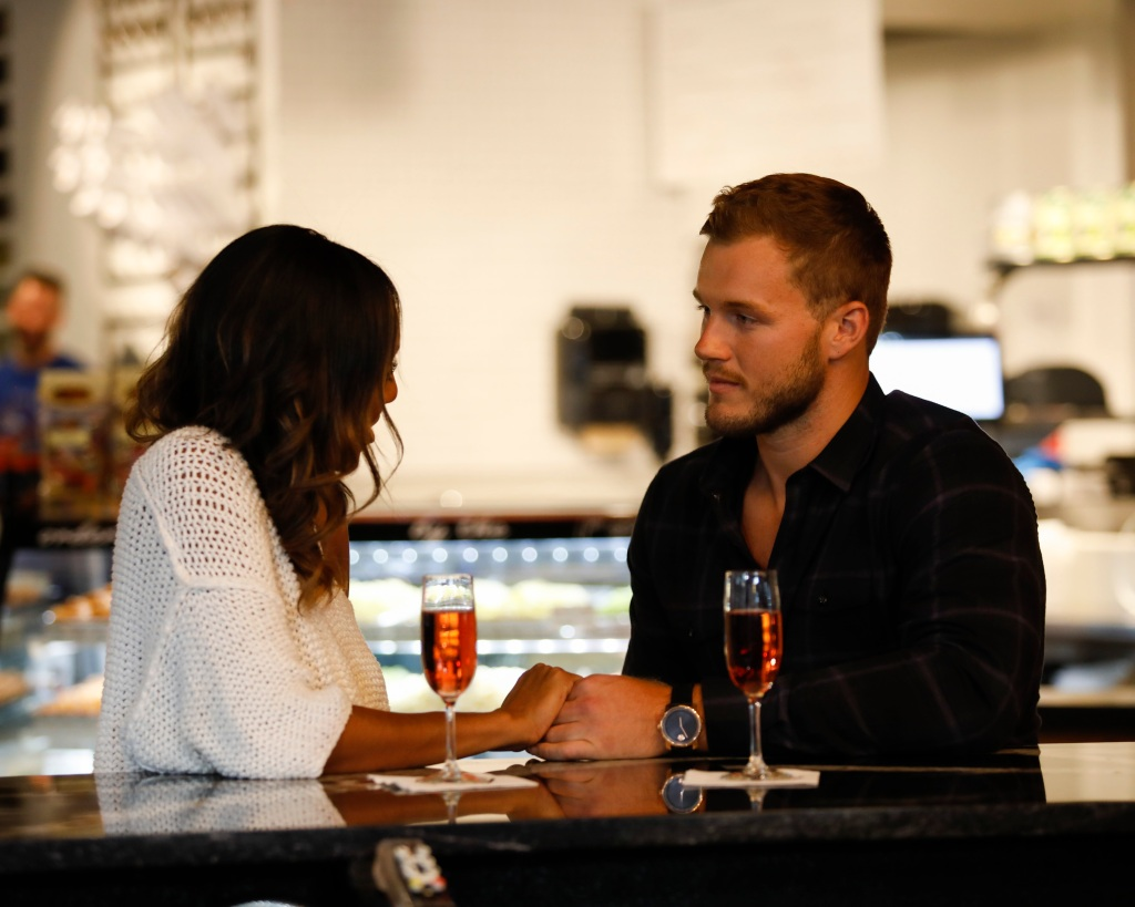 Tayshia and Colton Underwood one on one date during the bachelor