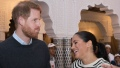 Prince Harry jokes around with pregnant Meghan Markle and asks if the baby is his