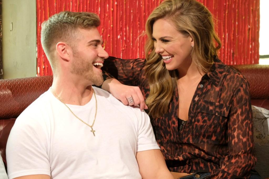 Bachelorette Hannah Brown Laughs With Contestant Luke Parker